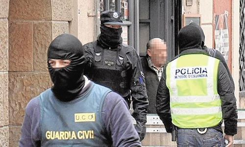 guardia civil y mossos